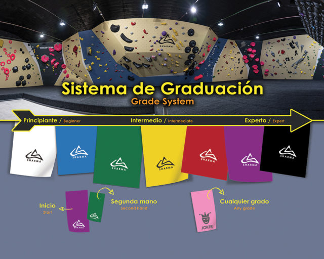 🇪🇸Este es el sistema de grados que utilizamos en Sharma Climbing Madrid, puedes consultarlo antes de escalar si deseas saber cual es tu rango de acción dentro de nuestra sala. ¡motivate, escala y pásalo bien!😜⁣ • • •⁣ 🇺🇸This is the grade system that we use at Sharma Climbing Madrid, you can consult it before climbing if you want to know what your range of action in the gym. Keep motivated, climb and have fun!😜⁣ • • •⁣ @petzl_official @prana @tenayaclimbing @maximropes @trublueclimbing⁣ • • •⁣ #climbing #climb #rockclimbing #sportclimbing #climbing_pictures #tradclimbing #getstrong #boulder #bouldering #bloc #klettern #arrampicata #escalade #escalada #explore #indoorclimbing #adventure #exercise #fitness #training #athlete #climbmore #sport #food #comida #bar